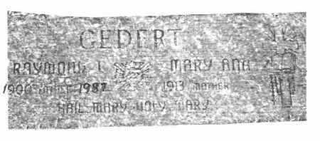 GEDERT, MARY ANN - Lucas County, Ohio | MARY ANN GEDERT - Ohio Gravestone Photos