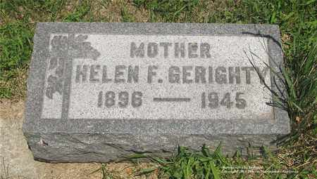 GERIGHTY, HELEN - Lucas County, Ohio | HELEN GERIGHTY - Ohio Gravestone Photos