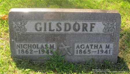 GILSDORF, AGATHA M. - Lucas County, Ohio   AGATHA M. GILSDORF - Ohio Gravestone Photos