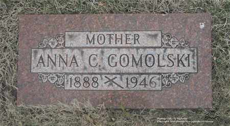 GOMOLSKI, ANNA C. - Lucas County, Ohio | ANNA C. GOMOLSKI - Ohio Gravestone Photos