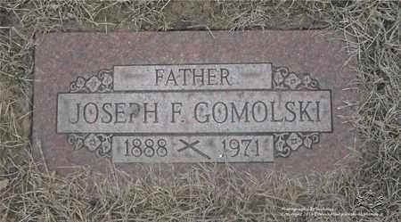 GOMOLSKI, JOSEPH F. - Lucas County, Ohio   JOSEPH F. GOMOLSKI - Ohio Gravestone Photos