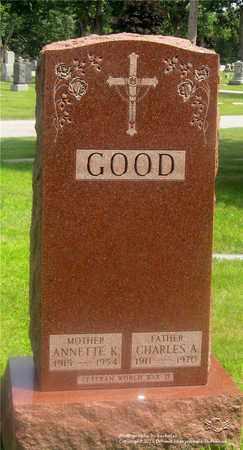 GOOD, CHARLES A. - Lucas County, Ohio | CHARLES A. GOOD - Ohio Gravestone Photos
