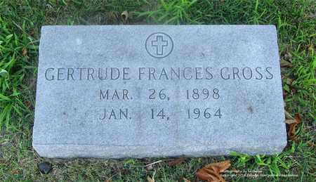 GROSS, GERTRUDE FRANCES - Lucas County, Ohio | GERTRUDE FRANCES GROSS - Ohio Gravestone Photos
