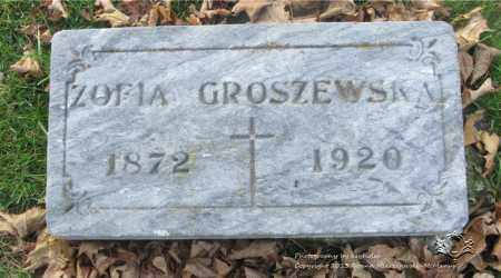 GROSZEWSKI, ZOFIA - Lucas County, Ohio | ZOFIA GROSZEWSKI - Ohio Gravestone Photos