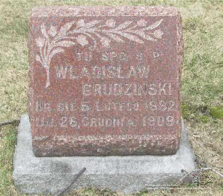 GRUDZINSKI, WLADISLAW - Lucas County, Ohio   WLADISLAW GRUDZINSKI - Ohio Gravestone Photos