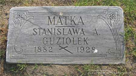 GUZIOLEK, STANISLAWA - Lucas County, Ohio | STANISLAWA GUZIOLEK - Ohio Gravestone Photos