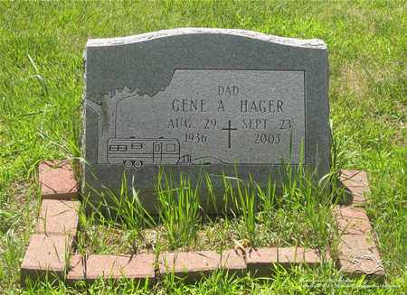 HAGER, GENE A. - Lucas County, Ohio | GENE A. HAGER - Ohio Gravestone Photos