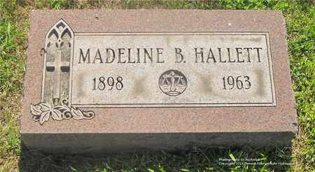 HALLETT, MADELINE B. - Lucas County, Ohio | MADELINE B. HALLETT - Ohio Gravestone Photos