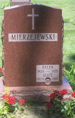 MIERZEJEWSKI, HELEN - Lucas County, Ohio   HELEN MIERZEJEWSKI - Ohio Gravestone Photos