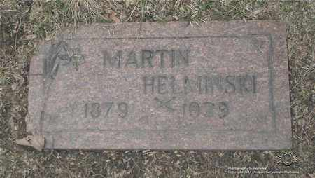 HELMINSKI, MARTIN - Lucas County, Ohio | MARTIN HELMINSKI - Ohio Gravestone Photos