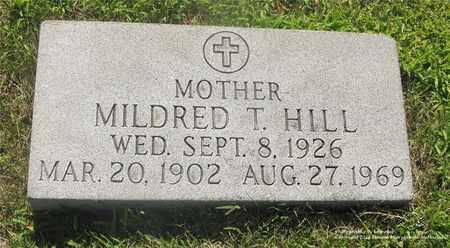 HILL, MILDRED T. - Lucas County, Ohio | MILDRED T. HILL - Ohio Gravestone Photos