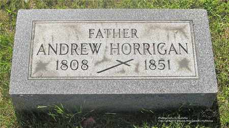 HORRIGAN, ANDREW - Lucas County, Ohio | ANDREW HORRIGAN - Ohio Gravestone Photos