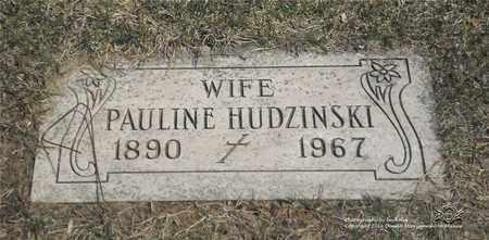 HUDZINSKI, PAULINE - Lucas County, Ohio | PAULINE HUDZINSKI - Ohio Gravestone Photos