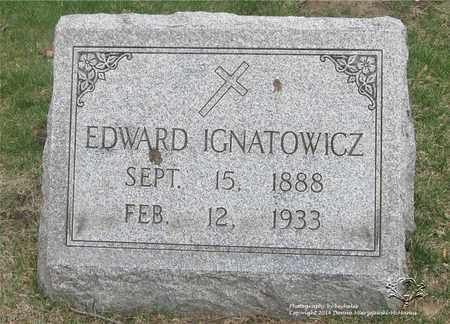 IGNATOWICZ, EDWARD - Lucas County, Ohio | EDWARD IGNATOWICZ - Ohio Gravestone Photos