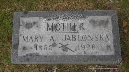 JABLONSKA, MARY - Lucas County, Ohio | MARY JABLONSKA - Ohio Gravestone Photos