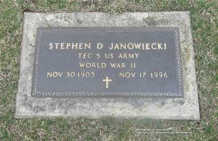 JANOWIECKI, STEPHEN D. - Lucas County, Ohio | STEPHEN D. JANOWIECKI - Ohio Gravestone Photos