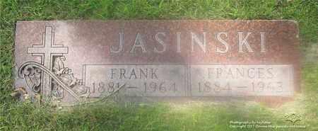 JASINSKI, FRANK - Lucas County, Ohio | FRANK JASINSKI - Ohio Gravestone Photos