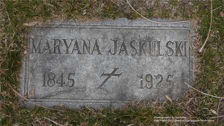 JASKULSKI, MARYANA - Lucas County, Ohio | MARYANA JASKULSKI - Ohio Gravestone Photos