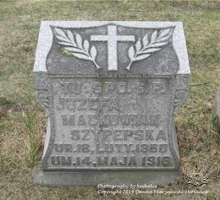 PRZYBYLSKI MACKOWIAK, JOZEFA - Lucas County, Ohio | JOZEFA PRZYBYLSKI MACKOWIAK - Ohio Gravestone Photos