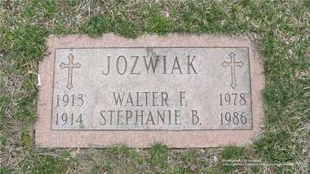 JOZWIAK, STEPHANIE B. - Lucas County, Ohio   STEPHANIE B. JOZWIAK - Ohio Gravestone Photos