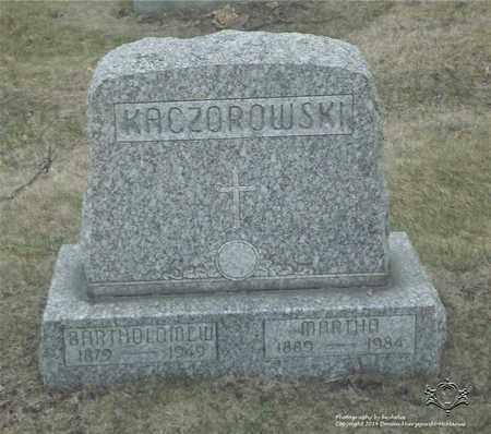KACZOROWSKI, BATHOLOMEW - Lucas County, Ohio | BATHOLOMEW KACZOROWSKI - Ohio Gravestone Photos