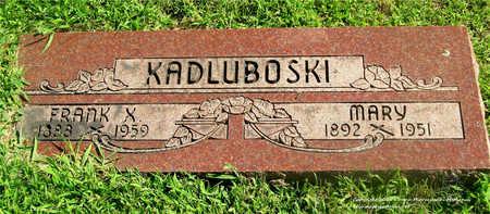 MANGE KADLUBOSKI, MARY - Lucas County, Ohio | MARY MANGE KADLUBOSKI - Ohio Gravestone Photos