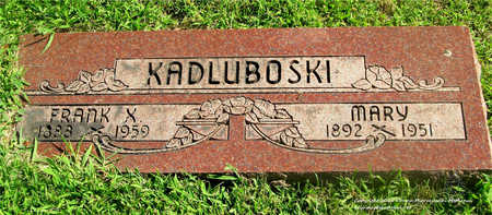 KADLUBOSKI, MARY - Lucas County, Ohio   MARY KADLUBOSKI - Ohio Gravestone Photos
