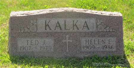 KALKA, TED J. - Lucas County, Ohio   TED J. KALKA - Ohio Gravestone Photos