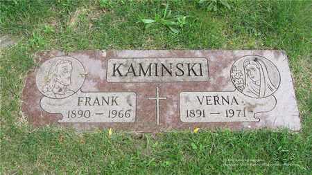 KAMINSKI, FRANK - Lucas County, Ohio | FRANK KAMINSKI - Ohio Gravestone Photos