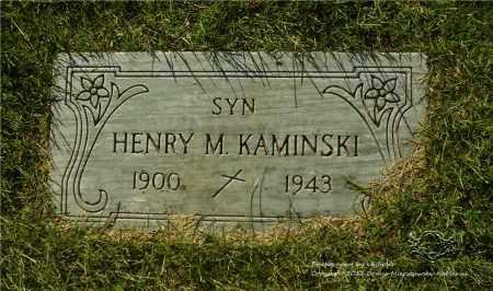 KAMINSKI, HENRY M. - Lucas County, Ohio | HENRY M. KAMINSKI - Ohio Gravestone Photos