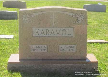 KARAMOL, FRANK S. - Lucas County, Ohio | FRANK S. KARAMOL - Ohio Gravestone Photos