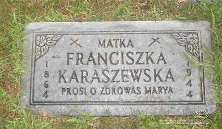 KARASZEWSKA, FRANCISZKA - Lucas County, Ohio | FRANCISZKA KARASZEWSKA - Ohio Gravestone Photos