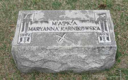 KARNIKOWSKA, MARYANNA - Lucas County, Ohio | MARYANNA KARNIKOWSKA - Ohio Gravestone Photos