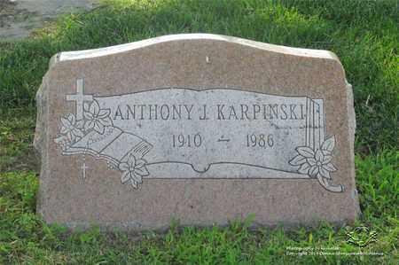 KARPINSKI, ANTHONY J. - Lucas County, Ohio | ANTHONY J. KARPINSKI - Ohio Gravestone Photos