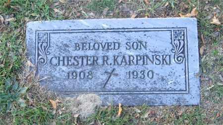KARPINSKI, CHESTER R. - Lucas County, Ohio | CHESTER R. KARPINSKI - Ohio Gravestone Photos