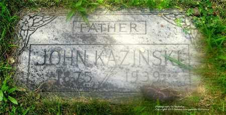 KAZINSKI, JOHN - Lucas County, Ohio | JOHN KAZINSKI - Ohio Gravestone Photos