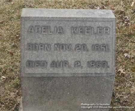 KEELER, ADELIA - Lucas County, Ohio   ADELIA KEELER - Ohio Gravestone Photos