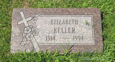 KELLER, ELIZABETH - Lucas County, Ohio   ELIZABETH KELLER - Ohio Gravestone Photos