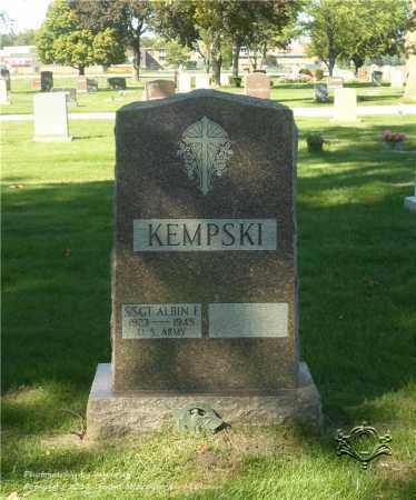 KEMPSKI, ALBIN F. - Lucas County, Ohio | ALBIN F. KEMPSKI - Ohio Gravestone Photos
