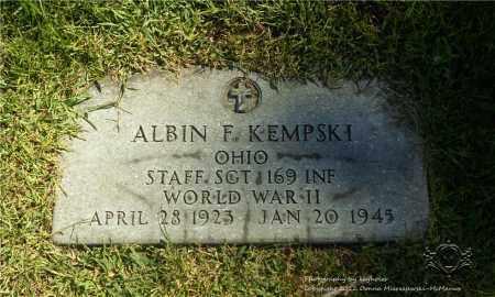 KEMPSKI  (MILITARY STONE), ALBIN F. - Lucas County, Ohio | ALBIN F. KEMPSKI  (MILITARY STONE) - Ohio Gravestone Photos