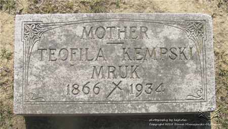PRUCHNIAK KEMPSKI MRUK, TEOFILA - Lucas County, Ohio | TEOFILA PRUCHNIAK KEMPSKI MRUK - Ohio Gravestone Photos