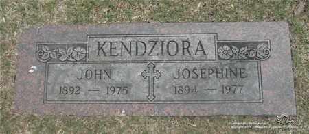 KENDZIORA, JOSEPHINE - Lucas County, Ohio | JOSEPHINE KENDZIORA - Ohio Gravestone Photos
