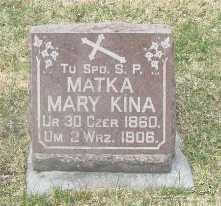KINA, MARY - Lucas County, Ohio   MARY KINA - Ohio Gravestone Photos