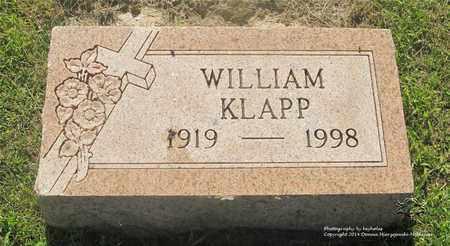 KLAPP, WILLIAM - Lucas County, Ohio   WILLIAM KLAPP - Ohio Gravestone Photos