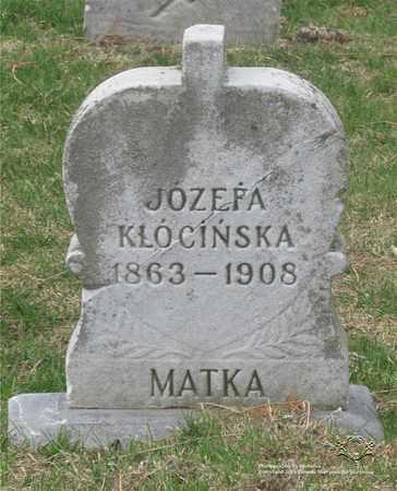 KLOCINSKA, JOZEFA - Lucas County, Ohio   JOZEFA KLOCINSKA - Ohio Gravestone Photos
