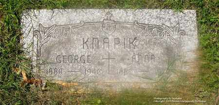 KNAPIK, GEORGE - Lucas County, Ohio | GEORGE KNAPIK - Ohio Gravestone Photos