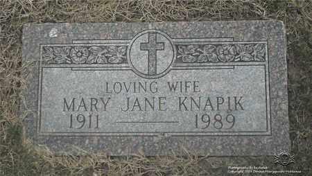 KNAPIK, MARY JANE - Lucas County, Ohio | MARY JANE KNAPIK - Ohio Gravestone Photos