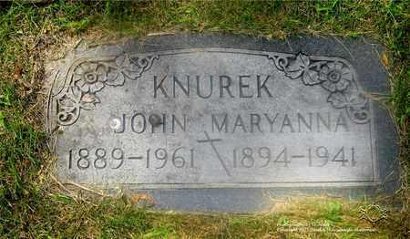 KNUREK, MARYANNA - Lucas County, Ohio | MARYANNA KNUREK - Ohio Gravestone Photos