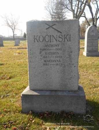 KOCINSKI, ANTHONY - Lucas County, Ohio | ANTHONY KOCINSKI - Ohio Gravestone Photos