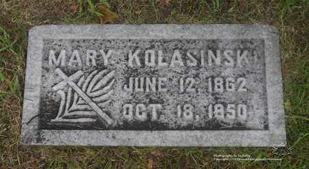ZIENTEK KOLASINSKI, MARY - Lucas County, Ohio | MARY ZIENTEK KOLASINSKI - Ohio Gravestone Photos